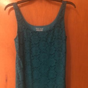 WHBM All Over Lace Tank Top, Small